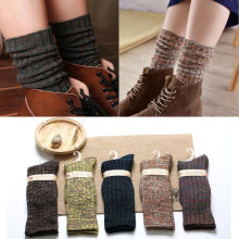 Thick Socks for Women Colorful Cotton Warm Autumn Winter Thermal Ladies Womens Socks Wine Red Long Harajuku Loose Boot Socks(China)