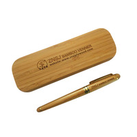 Personalised Engraved 0 5mm Luxury Fountain Pen Custom Recycled Bamboo Wood Pencil Box Logo Stainless Writing