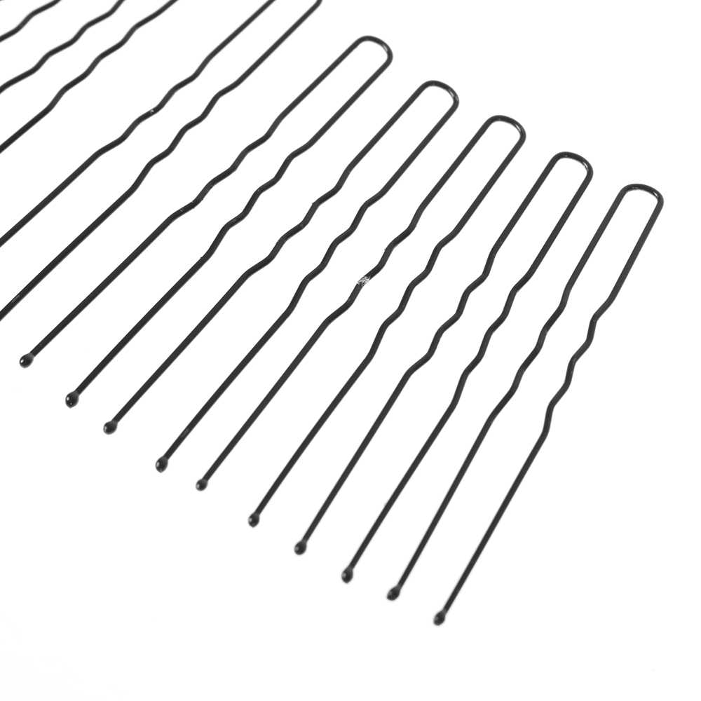 50 Pcs 6 Cm Rambut Melambaikan U-Berbentuk Bobby Pin Jepit Salon Pegangan Klip Jepit Rambut Bun Pembuat Aksesoris Rambut hitam Pengiriman Drop