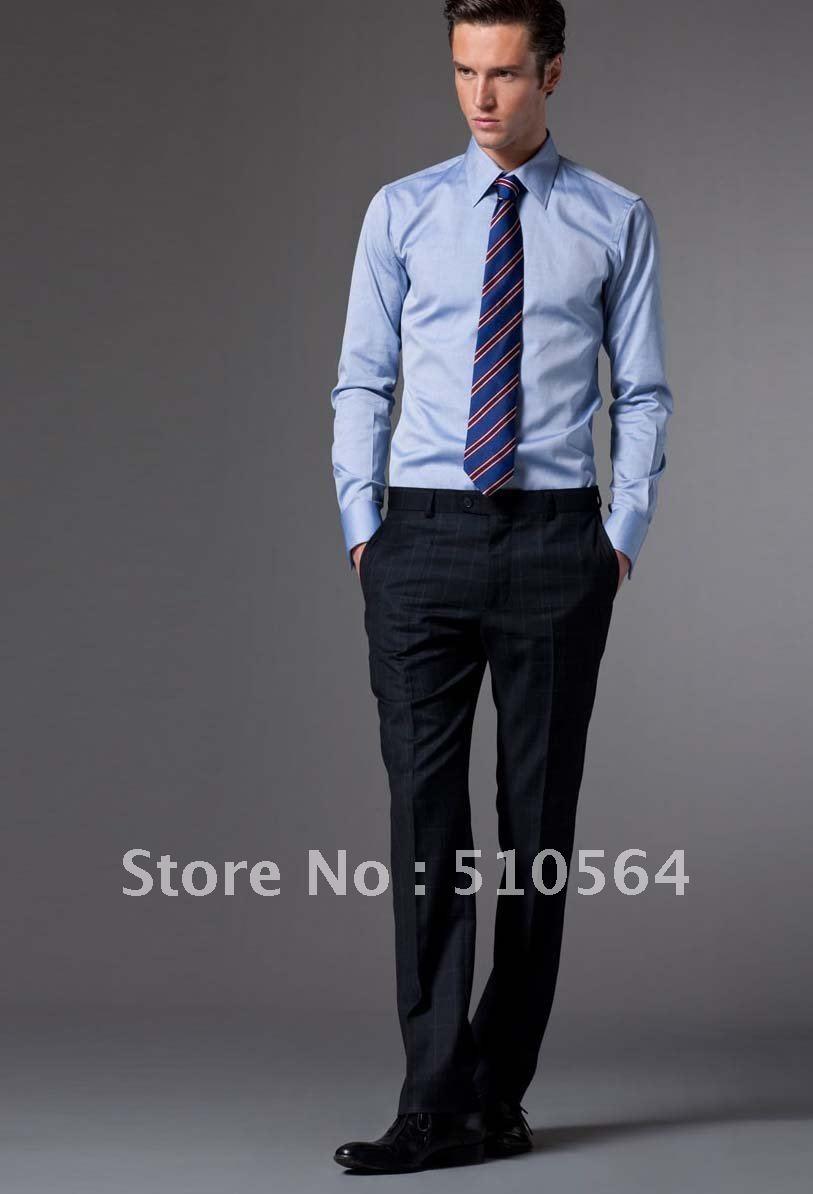 Custom made men Cotton shirt Business men slim fit shirt light ...