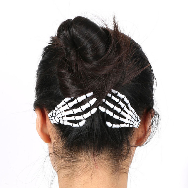 1 Pair Skeleton Hair Clips