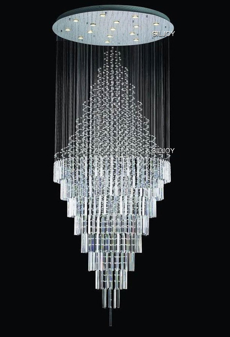 compare prices on modern contemporary chandeliers online shopping  - modern contemporary luxury cycle rain drop crystal chandelier for hotelmall business center lighting fixture(