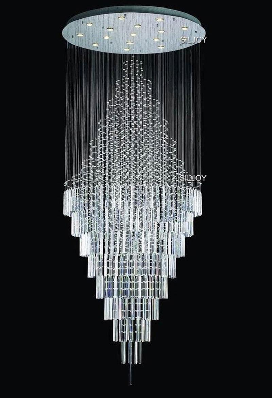 Modern Contemporary Luxury Cycle Rain Drop Crystal