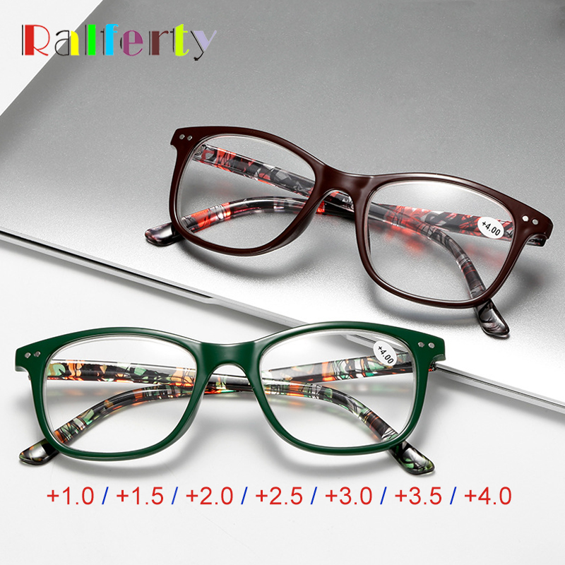 Ralferty Reading Glasses Women Diopter Glasses Dioptric Medical Presbyopic Eyeglasses +1.0 +1.5 +2.0 +2.5 +3.0 +3.5 +4.0 A6903
