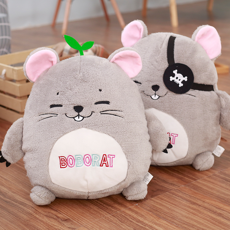 28cm Creative Bobo Rat Plush Toy Staffed Cartoon Animal Mouse Toy Doll Kawaii Cute HamsteR Kids Toy Lovely Birthday Gift ontario knife rat 1