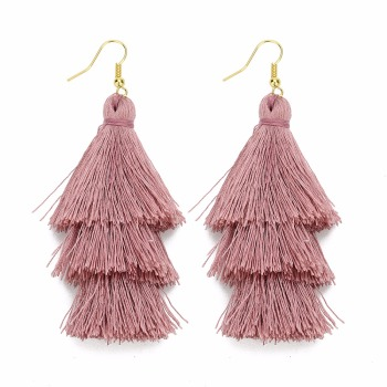 LOULEUR 3 Layered Bohemian Fringed Cheap Statement Tassel Earrings For Women Long Drop Dangle Earrings 2019 Boho Indian Jewelry