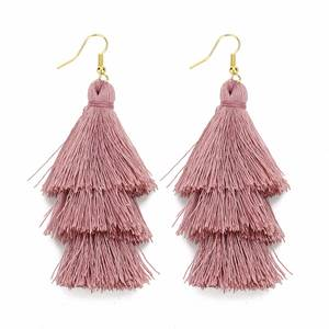 LOULEUR Tassel Earrings Women Drop Dangle Earring Jewelry