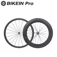 BIKEIN Full 3k Carbon 700C Cycling Road Bike Wheel Clincher Tubular Front 38mm Rear 50 60