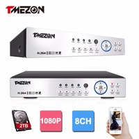 Tmezon AHD 8CH 3in1 Standalone H 264 1080P Real Time CCTV Surveillance DVR NVR HVR Three