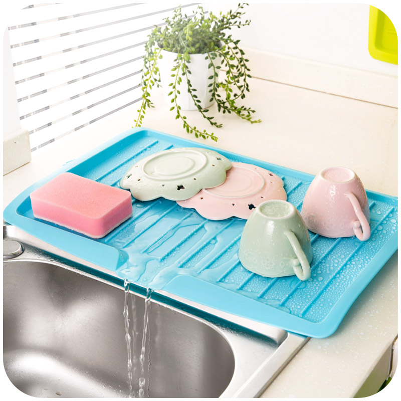 US $16.15 10% OFF|Sink Drain Rack Dish Draining Board tableware tray  drainer drain and bowl of fruits and vegetables for kitchen accessories-in  ...