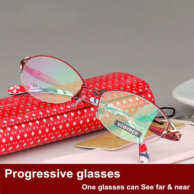 Más Foco Fondo Decoloración Gafas de Presbicia Gafas de Negocios Moda Señora Inteligencia Distancia Propósito 3032