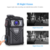 BOBLOV 64GB Body Cam WZ61 Ambarella A7LA50 4K HD 1080P With GPS Camara Policial IR Night Vision Loop Recording Camera Police