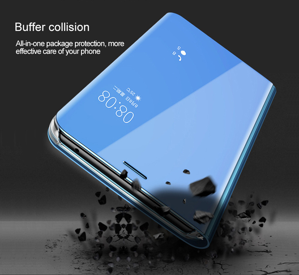 Smart Flip Case For Xiaomi Mi Mix 3 Case Clear View Leather Cover For Xiaomi Mix 3 Stand Mirror Cover for Xiaomi Mix3 case in Fitted Cases from Cellphones Telecommunications