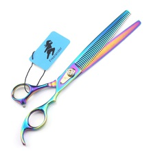 Professional 8.0 Inch High Quality 440C Pet Grooming Scissors For Dog Pet Hair Cutting Shear Thinning Shears Pet Supplies цена