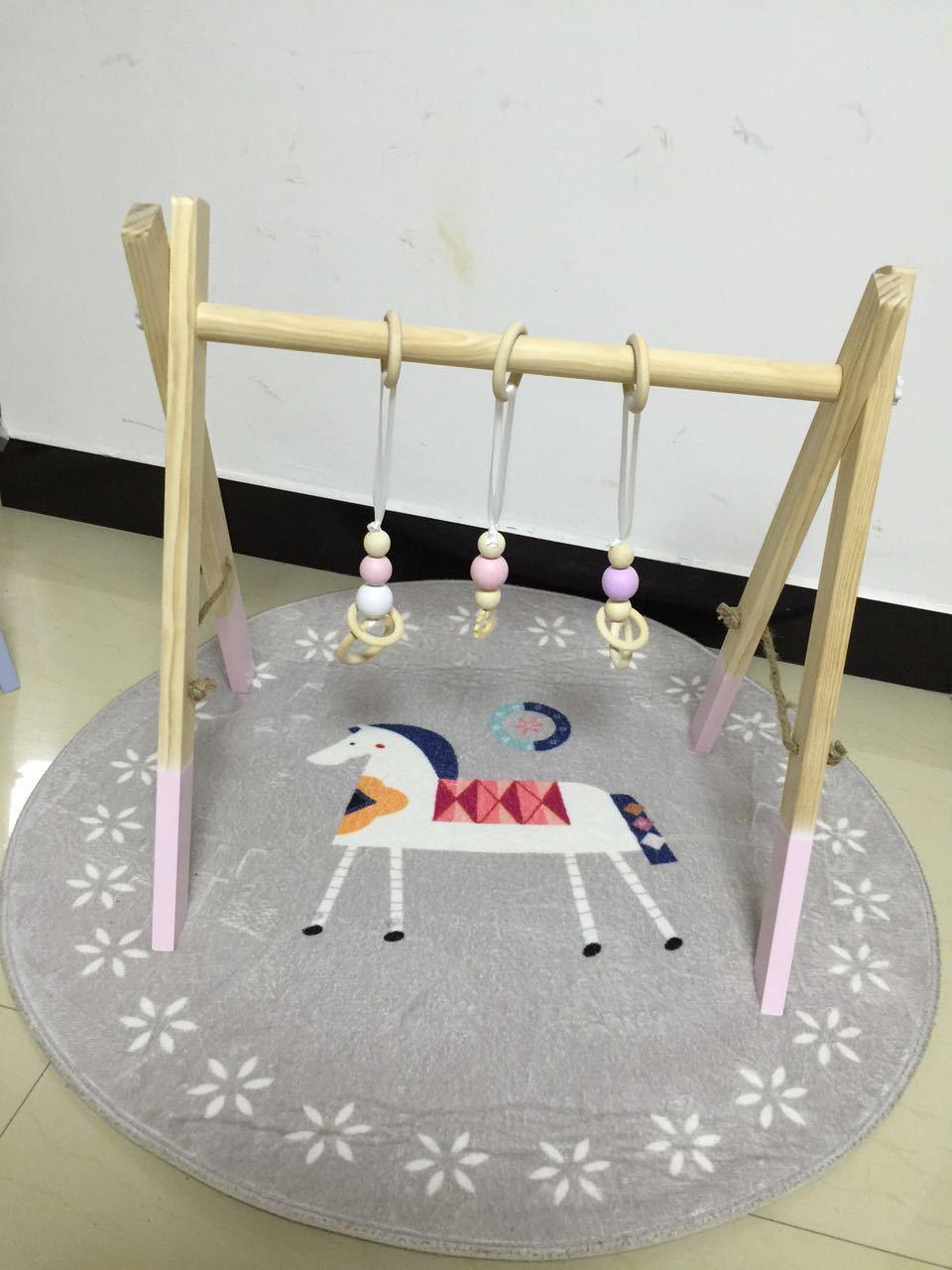 LM28 деревянные детские игрушки Детская кроватка колокольчик с держателем детская кровать подвесные погремушки игрушки подарок для новорож... - 5