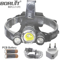 B21 9000LM L2 LED Headlamp Waterproof Head light Camping Lamp Boruit led Lights by 18650 Battery With Usb Cable
