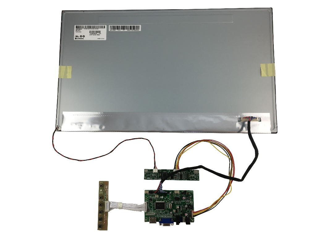 HDMI+ VGA+Audio  of LCD driver board  +21.5 inch IPS LCD panel LM215WF3-SLK1 with 1920*1080 +LVDS cable+OSD keypad with cable