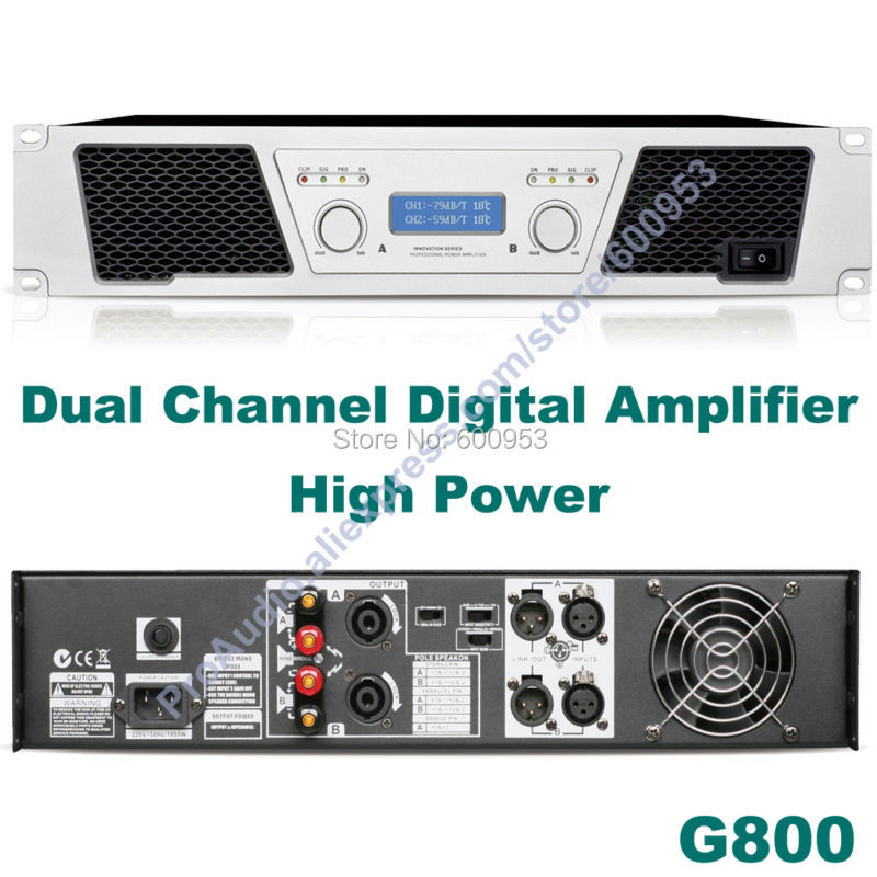 First-Class 3800W Dual Channel Digital Amplifier - Microphone Mic Conference Stage Power Amplifier G800First-Class 3800W Dual Channel Digital Amplifier - Microphone Mic Conference Stage Power Amplifier G800