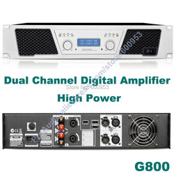 First-Class 3800W Dual Channel Digital Amplifier - Microphone Mic Conference Stage Power Amplifier G800