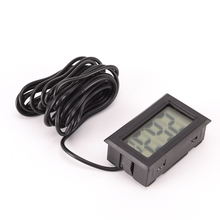 Mini LCD Display Inlay Digital Thermometer Probe Refrigerator/Fish Tank Temperature Tester