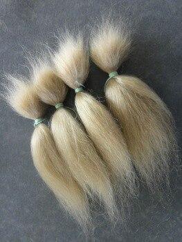 Kaydora 15G Dolls 100% Emas Murni Rambut Pirang Mohair untuk Diseduh Sendiri Buatan Tangan Reborn Bayi Boneka LOL Reborn Boneka Rambut wig Alami