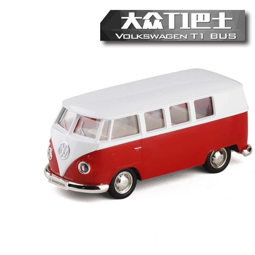 Hohe Simulation Modell Spielzeugauto RMZ Stadt 1:36 Metall Volkswagen Van Retro Druck T1 Bus Legierung Bus Modell Ausgezeichnete Kinder Geschenke PUBG
