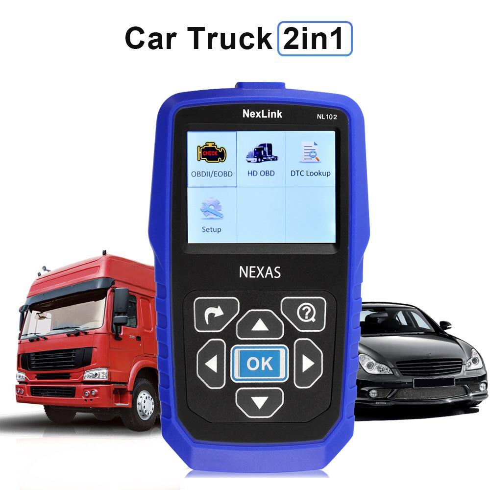 Car Truck Diagnostic Tool Nexlink NL102 Heavy Duty Trucks Scanner Engine ESP ABS Brake Diagnostics