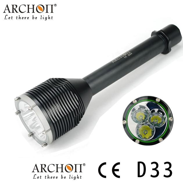 Lampe de plongée sous-marine ARCHON D33 W39 lampe de poche LED 100 M lampe de photographie lanterne 3000 Lumen (pas de batterie)