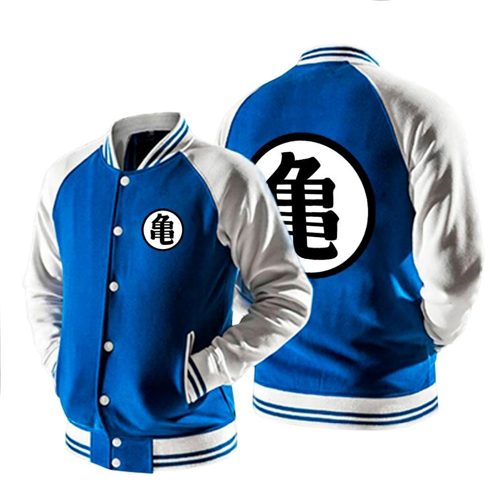 Anime Dragon Ball baseball uniform printed Guko cotton long sleeve button coat spring autumn style big size