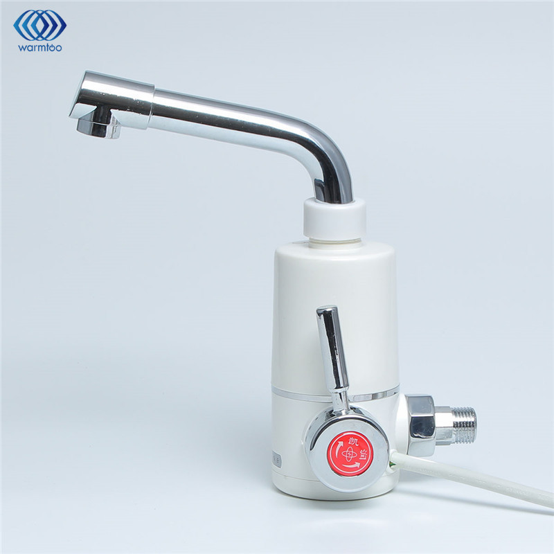 Household Electric Water Heater Tankless  220v 2400W  Hot Wash Shower Kitchen Faucet  Rapid Heating Tap Instant Bathroom