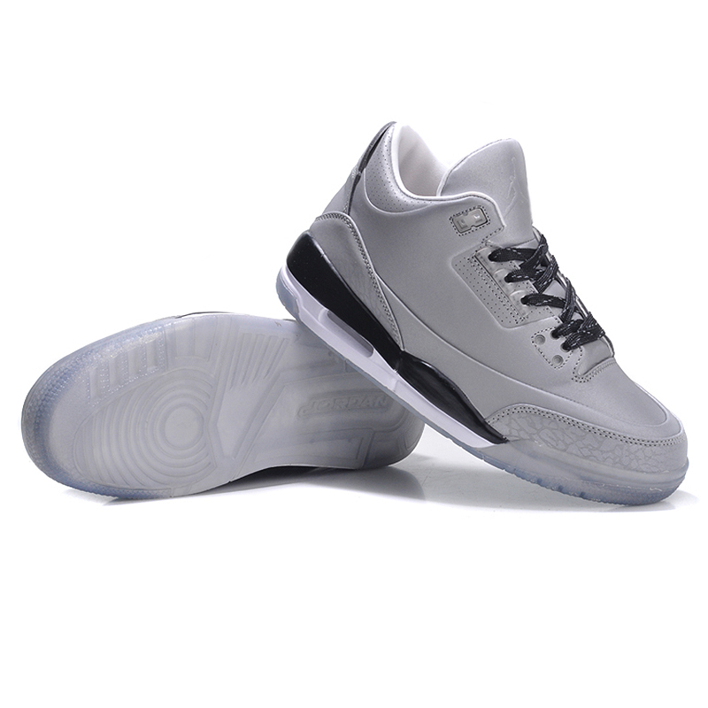 1f7aca68f078 Original Nike AIR JORDAN 3 5LAB3 REFLECT SILVERREFLECT SILVER BLACK WHITE  Men s Origina Basketball Shoes Sneakers 631603-in Basketball Shoes from  Sports ...