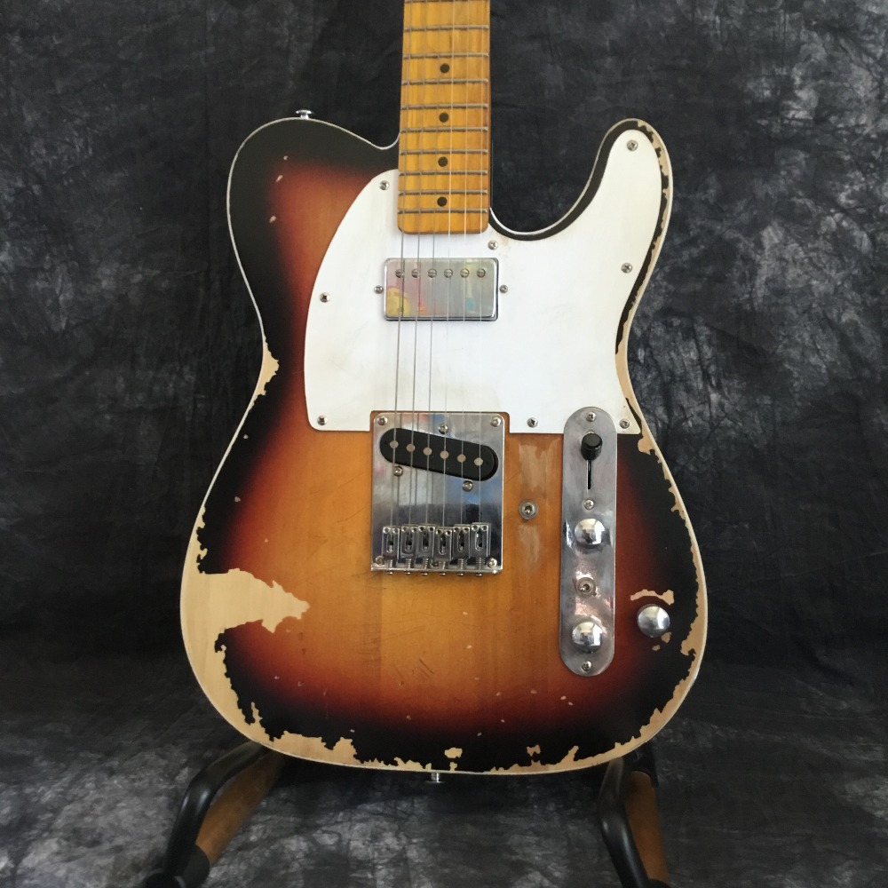 Custom Shop handmade electric guitar telecast, Andy tele limited version, master relic guitar build TL, boom switch, H S control