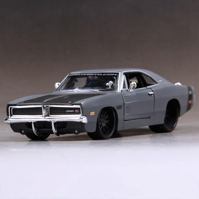Diecast Model DG Challenger 1969 Gri 1:24 Alaşım Araba Model Oyuncak Araç Araba Modeli Alaşım ModelToys hediye Oyuncak araba