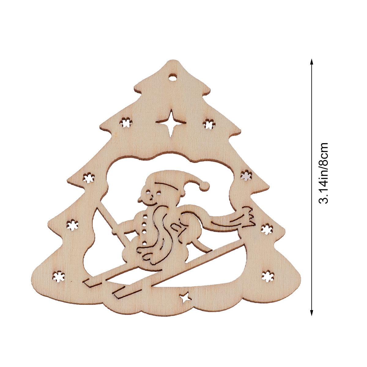 Christmas Tree Cutout.Us 1 68 39 Off 10pcs Wooden Snowman Ckristmas Tree Discs Wood Cutout Slices For Christmas Tree Decor Pendants Hanging Decorations Wood Tags In Wood