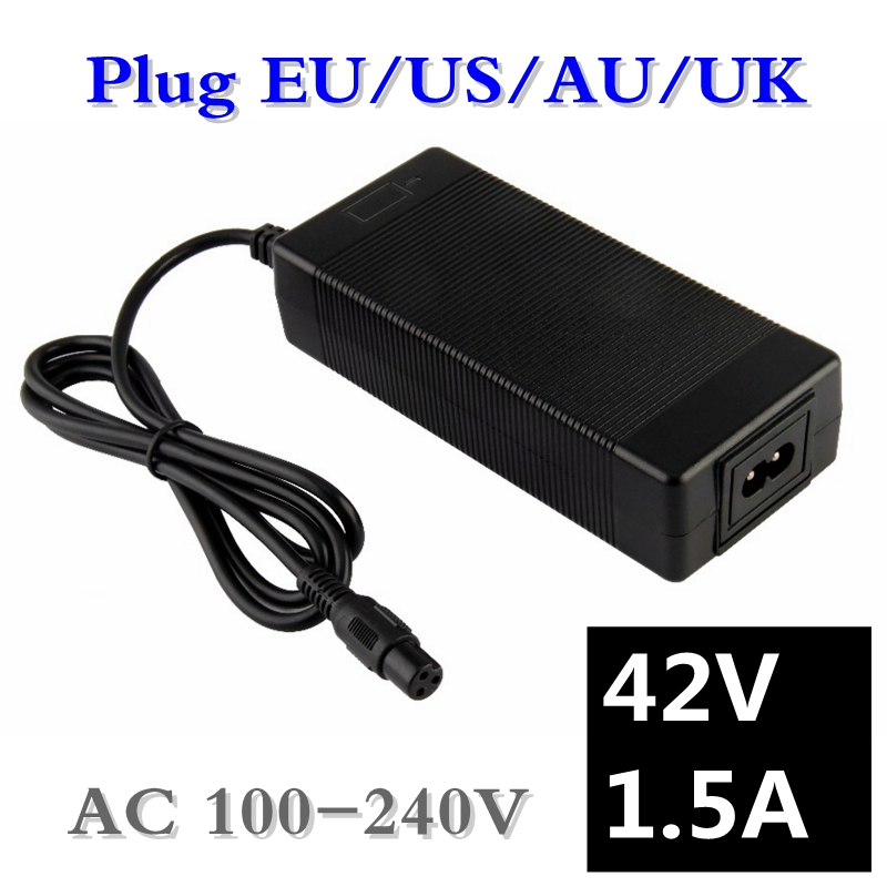 42V 1.5A US Plug Power Charger Adapter For 2 Wheels Self Balancing Scooter New !