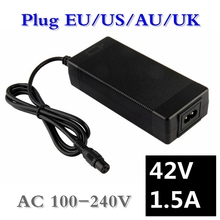 NEW 42V 1.5A Universal Battery Charger, 100-240VAC Power Supply for Self Balancing Scooter Hoverboard UK/EU/US/AU Plug стоимость