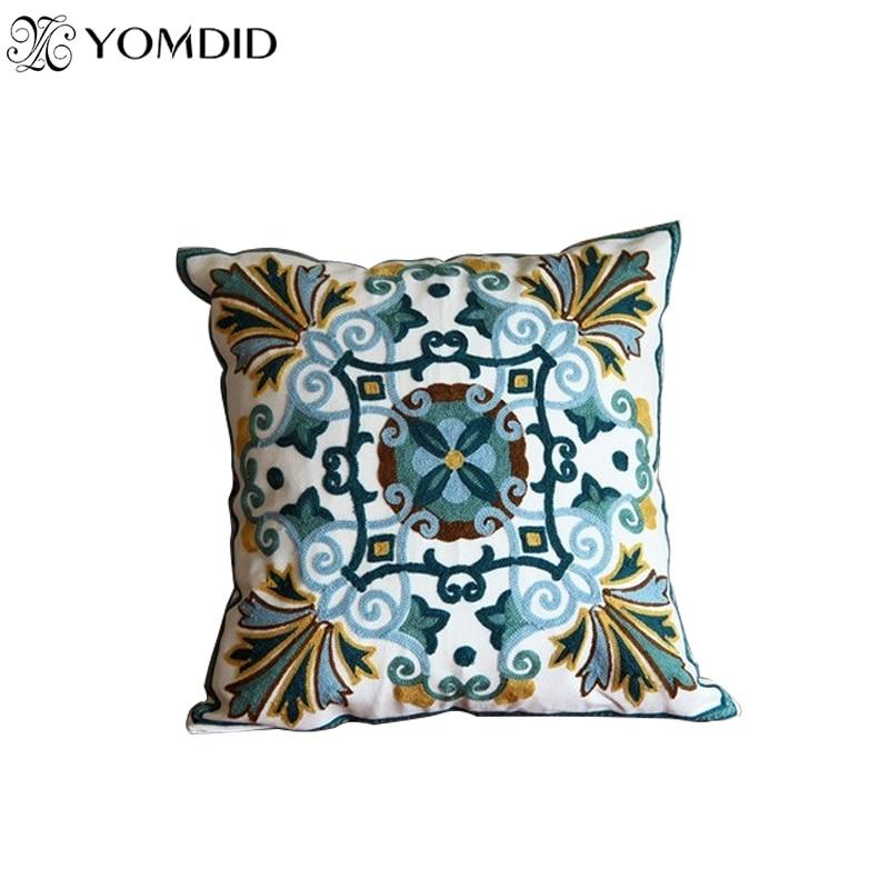 Hot New National Style Sofa /car Cushions Creative Fashion Plaid Decorative Pillowcases  Hand-embroidered Cojines