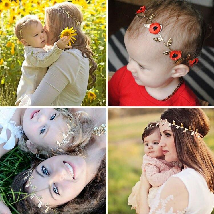 #GA008 Greek Laurel Leaf Flower Kids Baby Girl Toddler Headband Decoration Artistic Women+baby Style Headwear Accessories