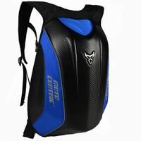 Carbon Fiber Motorcycle Helmet Backpack Moto Bag Reflective Travel Large Bag Hard Shell 56*30*37