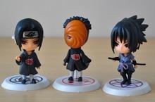 Naruto 6pcs/lot Action Figures Kakashi Sakura Sasuke Itachi Obito Gaara PVC Toys