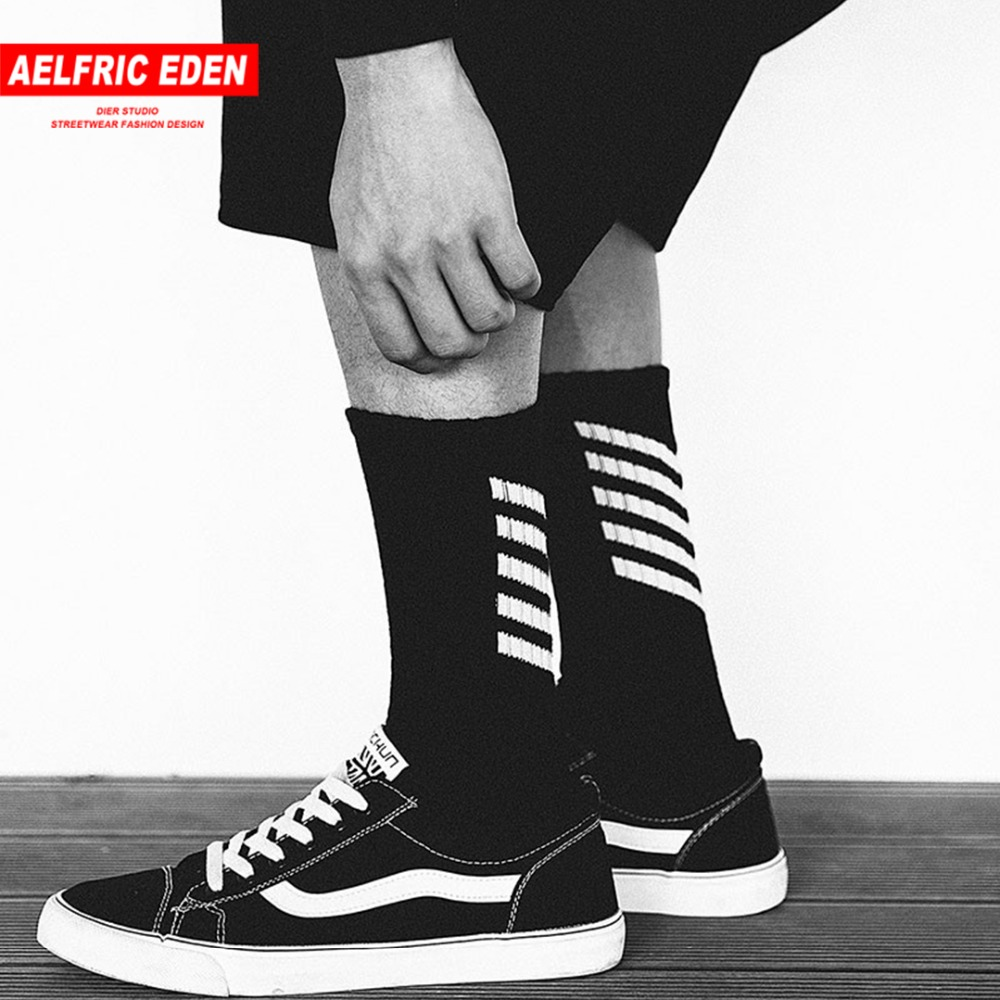 Aelfric Eden Men Long Mens Socks Cotton Casual Striped Crew Harajuku Comfortable Sokken Skateboard Sox Unisex Happy Sock Ae022