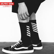 Aelfric Eden Men Long Mens Socks Cotton Casual Striped Crew Harajuku Comfortable Sokken Skateboard Sox Unisex Happy Sock Ae022(China)