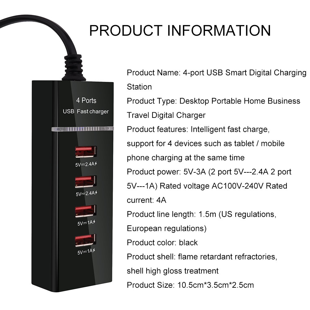Universal Travel Plug with USB Ports