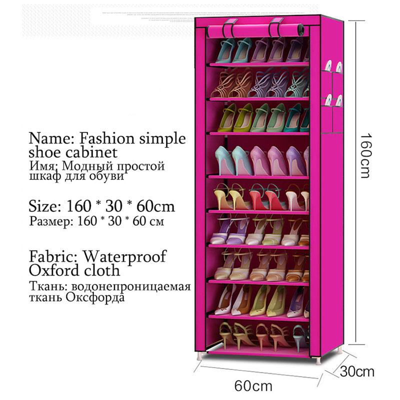 Image 5 - 9 Ярусов, современные полки для обуви, ткань Оксфорд, табурет, шкаф для хранения, многоцелевой стеллаж для обуви, сделай сам, органайзер для обуви, чехол, экономия места-in Обувные шкафы from Мебель on AliExpress