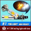 Night Lord Hight power 7.5w chip  5SMD 7.5W H1 LED Fog Light with lens Free shipping