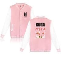 Wangcangli BTS Kpop Baseball Jacket Winter Hoodies Men Popular Bangtan Hip Hop Harajuku Hoodies Women Fashion