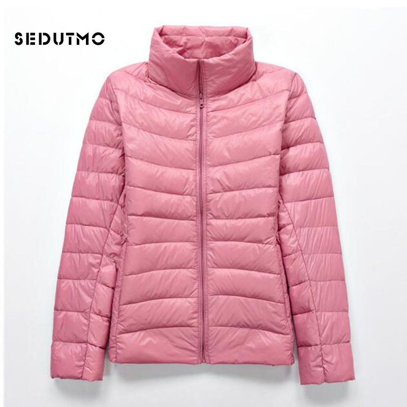 SEDUTMO Winter Ultra Light Duck   Down     Coat   Women Plus Size 3XL Jackets Short Warm   Coat   Thin Spring Puffer Jacket ED340