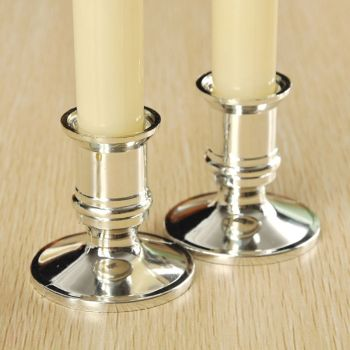 2pcs Plastic Candle Base Holder Pillar Candlestick Stand For Electronic Candles Christmas Party Home Decor 1