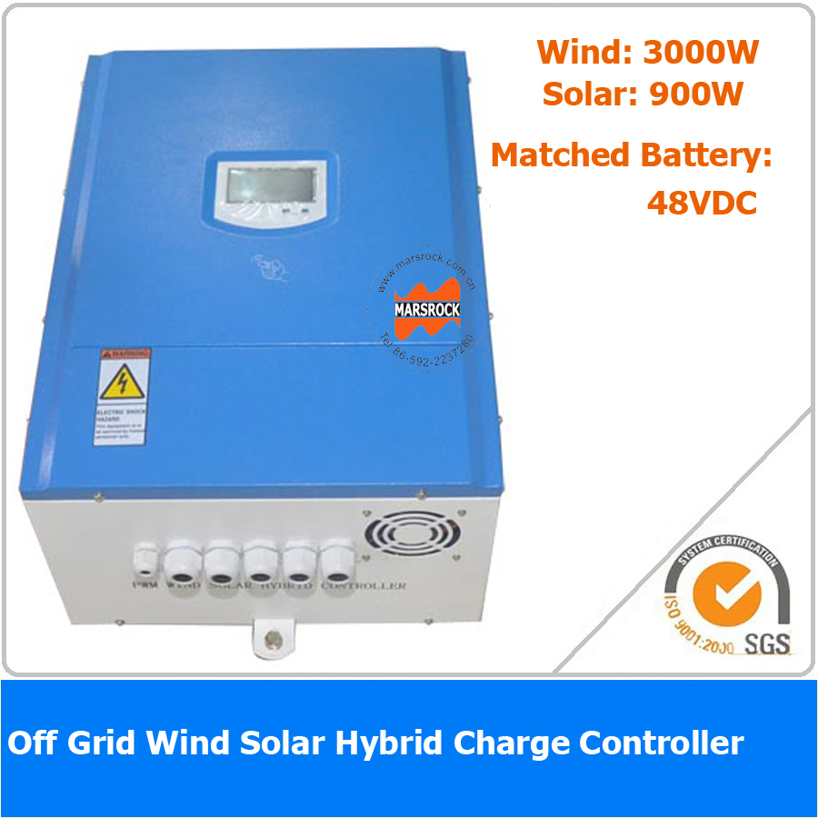 3900W 48VDC Off Grid Wind Solar Hybrid Charge Controller, 3000W Wind Power, 900W Solar Power 900w 12 24v auto off grid mppt wind solar hybrid charge controller with full protections for home hybrid system new arrival