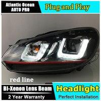 Auto Pro Car Style LED Head Lamp For VW Golf 6 Led Headlights 2009 2013 Angel